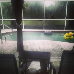 Rainy Florida Day. May 1st, 2013  (Photo courtesy of: @brokerEXCLUSIVE on Instagram)